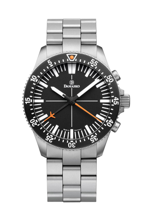 Damasko DC80 Orange Automatic Chronograph Watch with Ice Hardened Bracelet