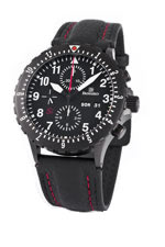 Damasko DC66 Si Black Automatic Chronograph Watch