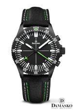 Damasko DC82 Green Black Automatic Chronograph Watch