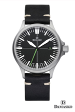 Damasko DS30 Self Winding Mechanical Watch with Green Hand